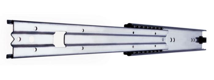 ITS 018 Partial extension drawer slide 150 kg - 57,4 x 17 mm telescopic slide hot-dip galvanized steel length 300 - 1500 mm