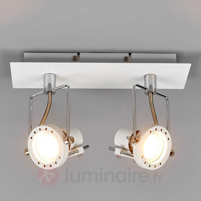 Spot LED Agidio blanc, 2 lampes - Plafonniers LED