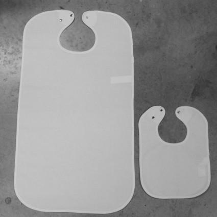 Linge de table : bavoirs et nappes - Bavoir imperméable CODRY/PVC adulte et enfant