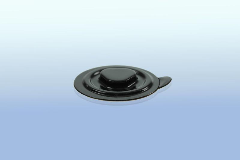 CD Clip rund (PVC) - selbstklebend - 35mm - schwarz - CD-Clips