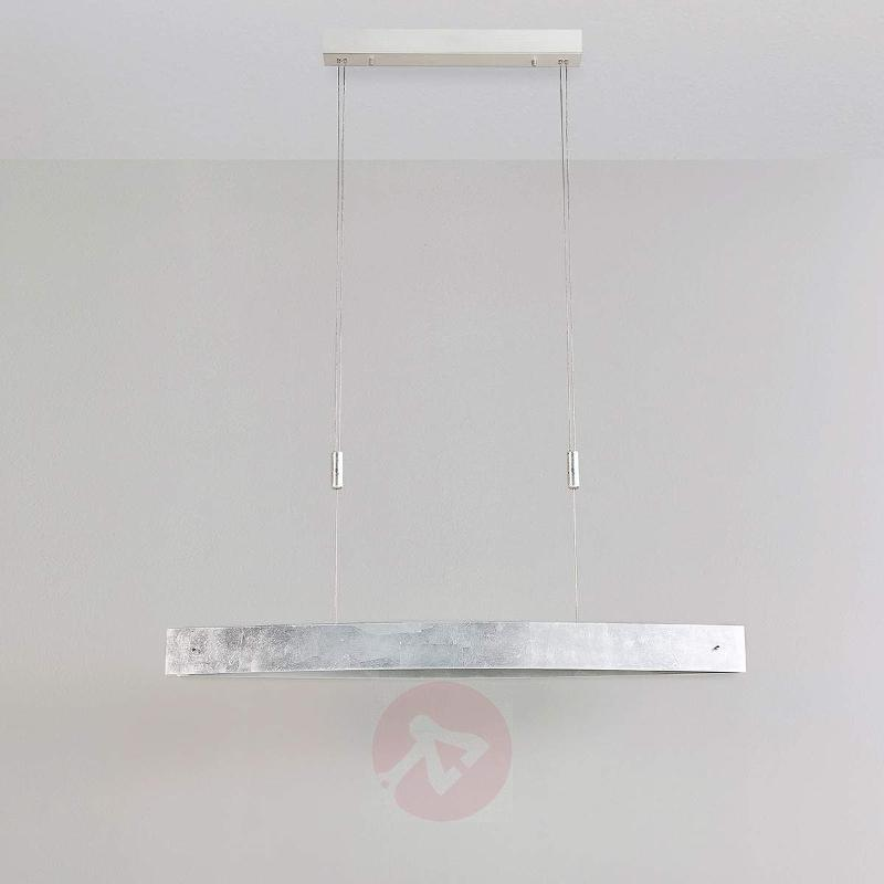 Dining room LED pendant light Lio with silver film