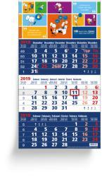 3 Months calendars - 3 Months Focus Blue