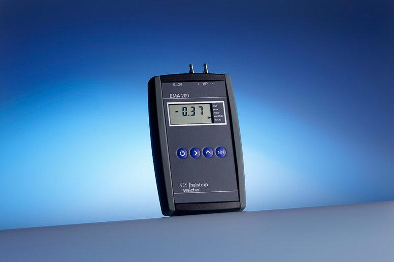 Digital manometer EMA 200 - High-end pressure gauge for differential pressure and flow measurements