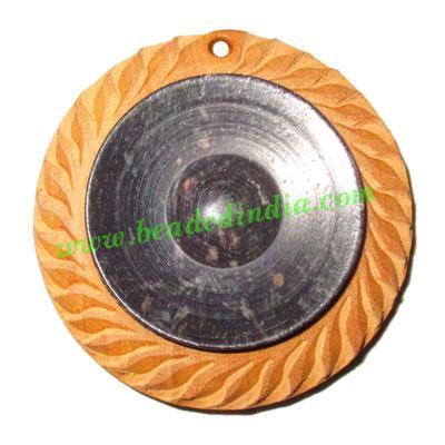 Handmade wooden fancy pendants, size : 44x9mm - Handmade wooden fancy pendants, size : 44x9mm