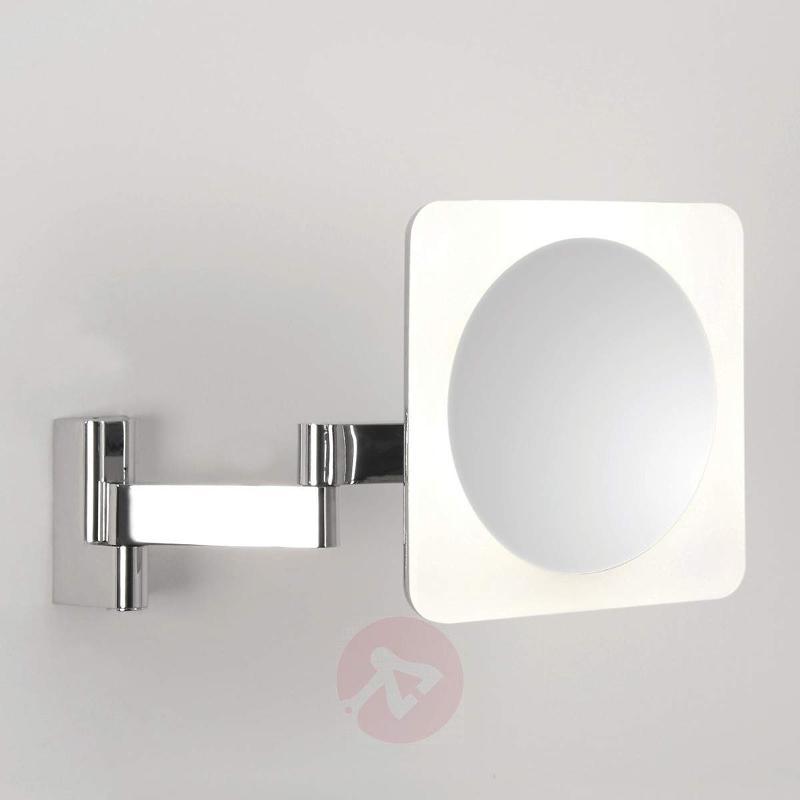 Niimi Square LED Mirror 5x Magnification - Wall Lights
