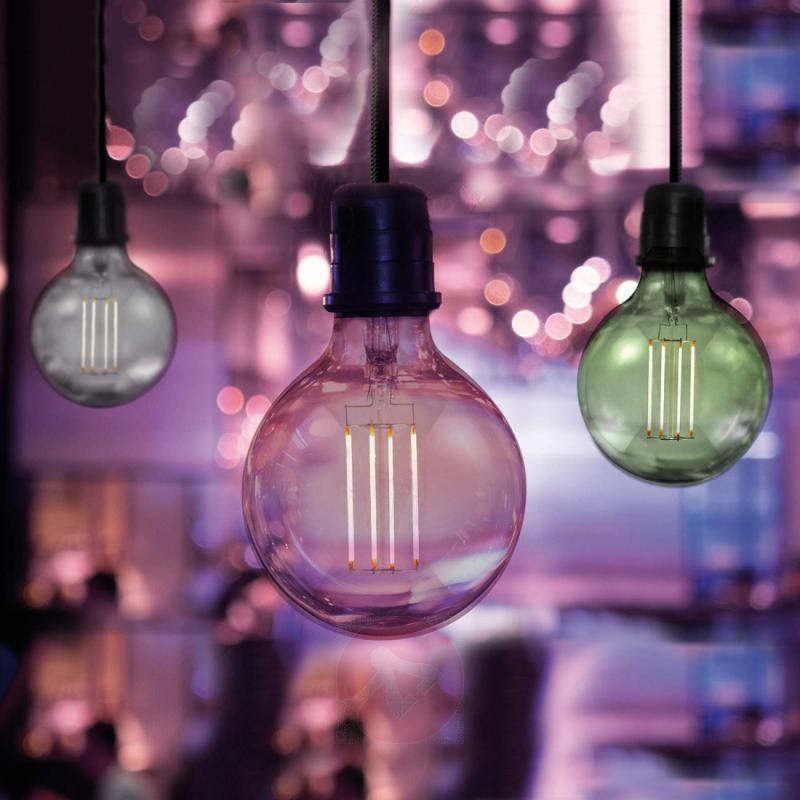 E27 6 W 920 LED globe lamp, smoky magenta - light-bulbs