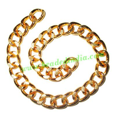 Gold Plated Metal Chain, size: 2.5x11mm, approx 5.7 meters i - Gold Plated Metal Chain, size: 2.5x11mm, approx 5.7 meters in a Kg.