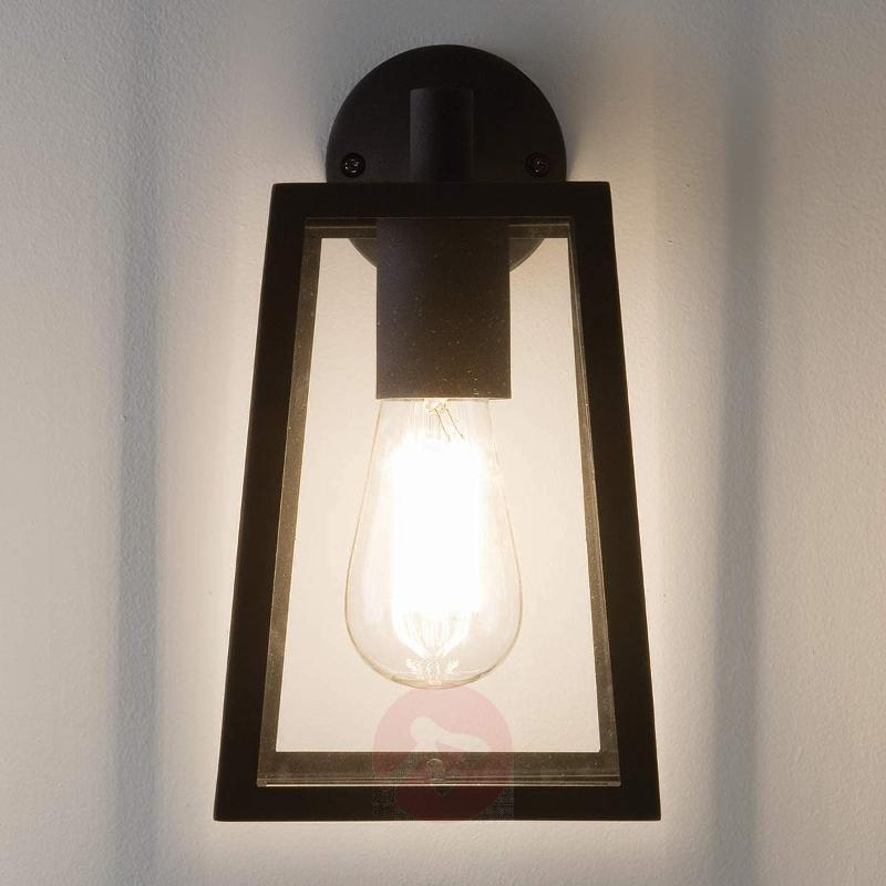 Calvi Outside Wall Light with Black Frame - Outdoor Wall Lights