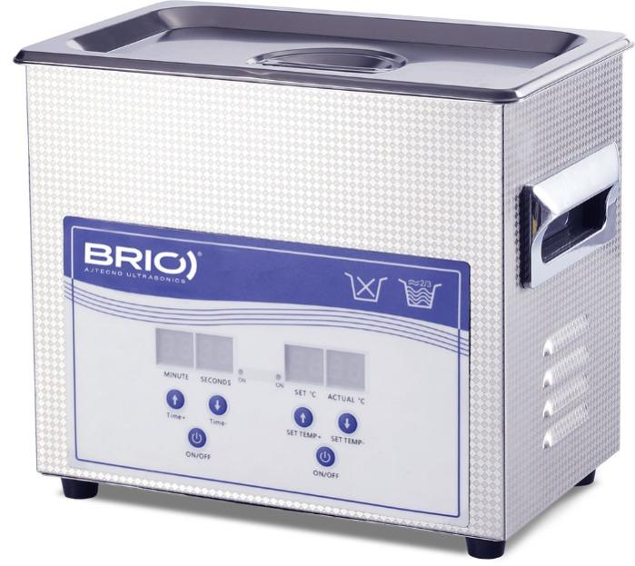 BR-6 LAB - Máquina de limpieza por ultrasonidos manual de 6 L