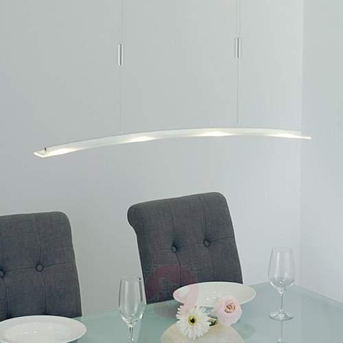 Juna - LED pendant lamp with glass shade, 98 cm - Pendant Lighting