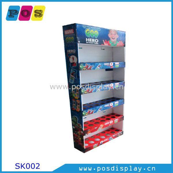 point of purchase side kick shelf display - side kick shelf display with 5 trays for toys