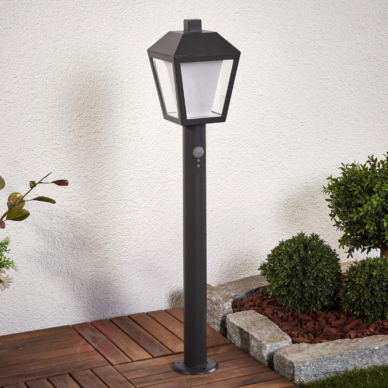 Borne lumineuse LED à capteur Keralyn, gris foncé - Bornes lumineuses avec détecteur