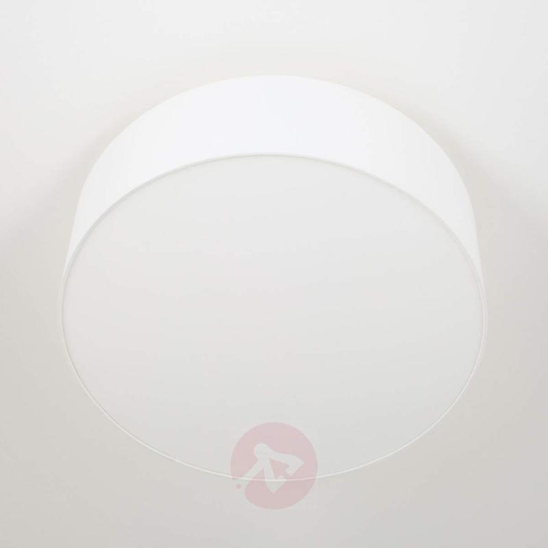Round Gala LED ceiling light, white textile shade - Ceiling Lights