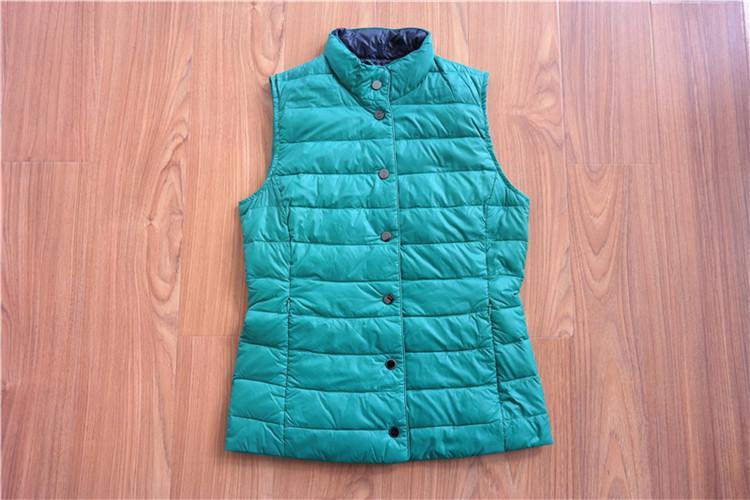 Women's down vest waistcoat