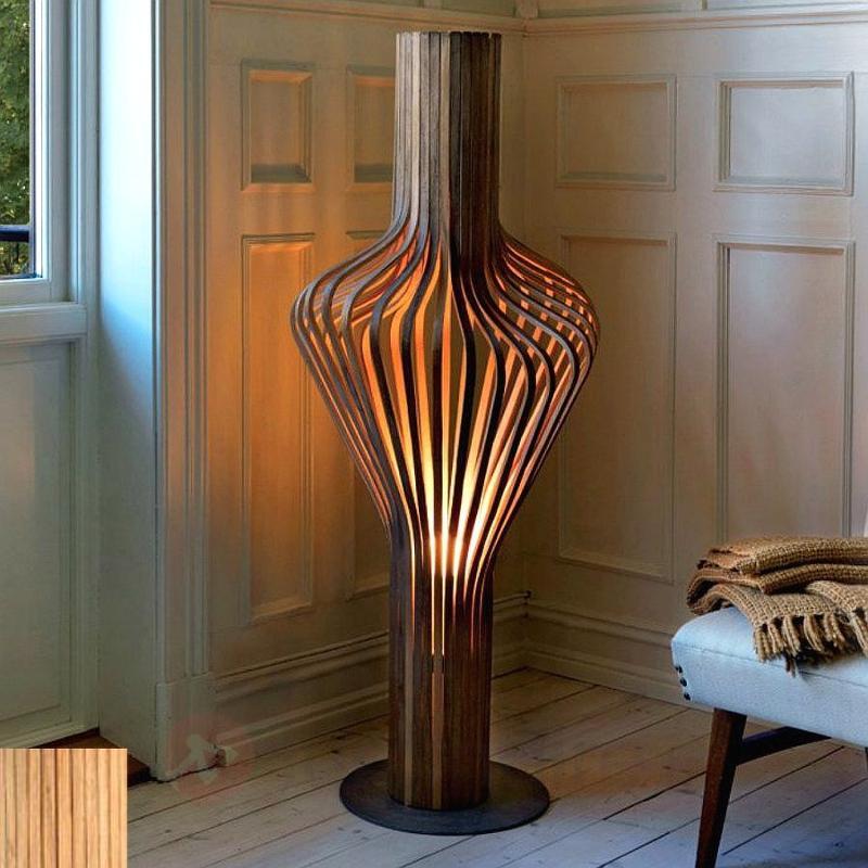 Lampadaire design en bois et à intensité variable - Lampadaires design