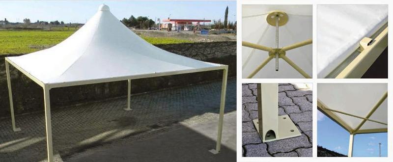 Tentes pagodes miniMAXX Airone - Pagodes MiniMaxx en acier renforcé