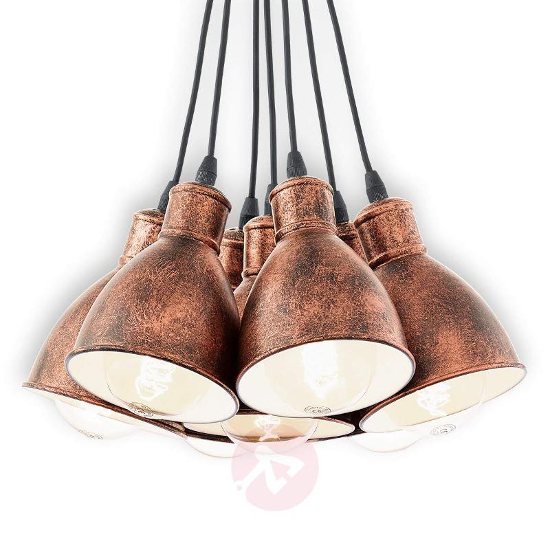 Seven-bulb Priddy 1 vintage hanging light - Pendant Lighting