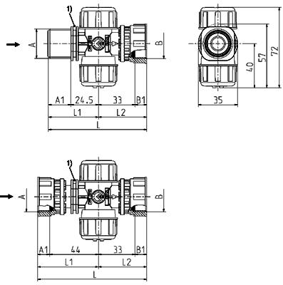Strainer, DN 10 - 12.010.300 / ~.500