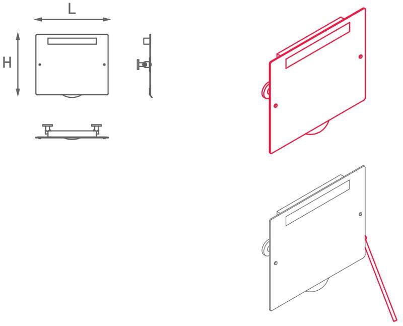Specchio inclinabile retroilluminato - NA.050/051