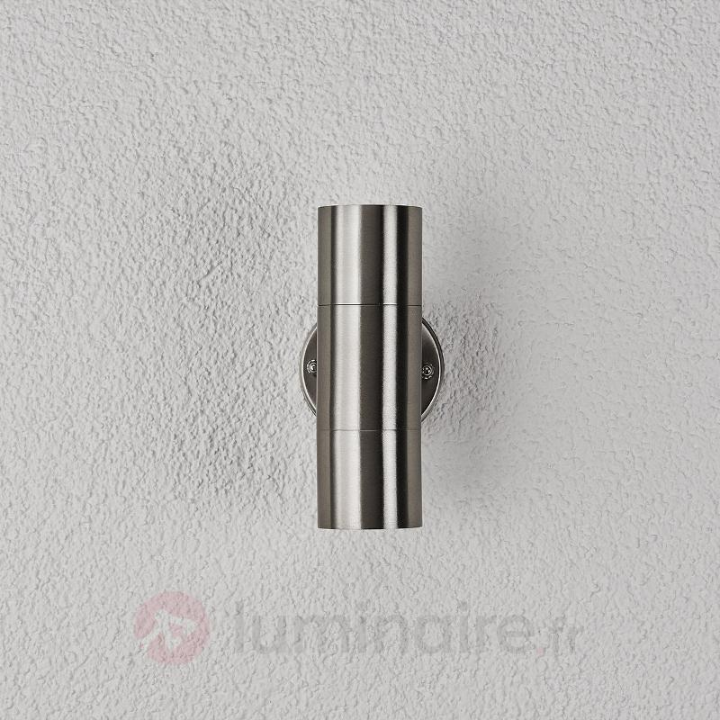 Applique d'extérieur Hakan en inox à 2 lampes - Appliques d'extérieur inox
