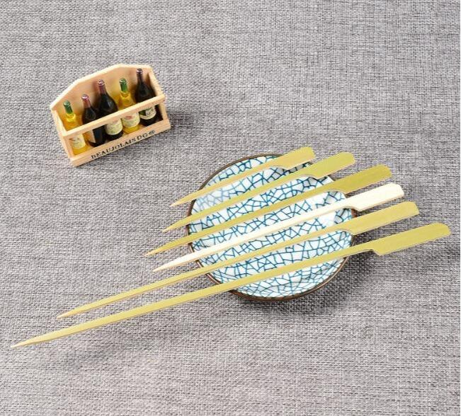 Bamboo boat oar - Disposable teppo skewers/bamboo paddle picks/bamboo skewers