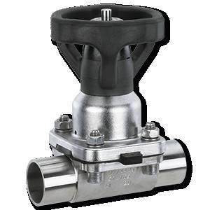 GEMÜ 653 - Válvula de diafragma de accionamiento manual