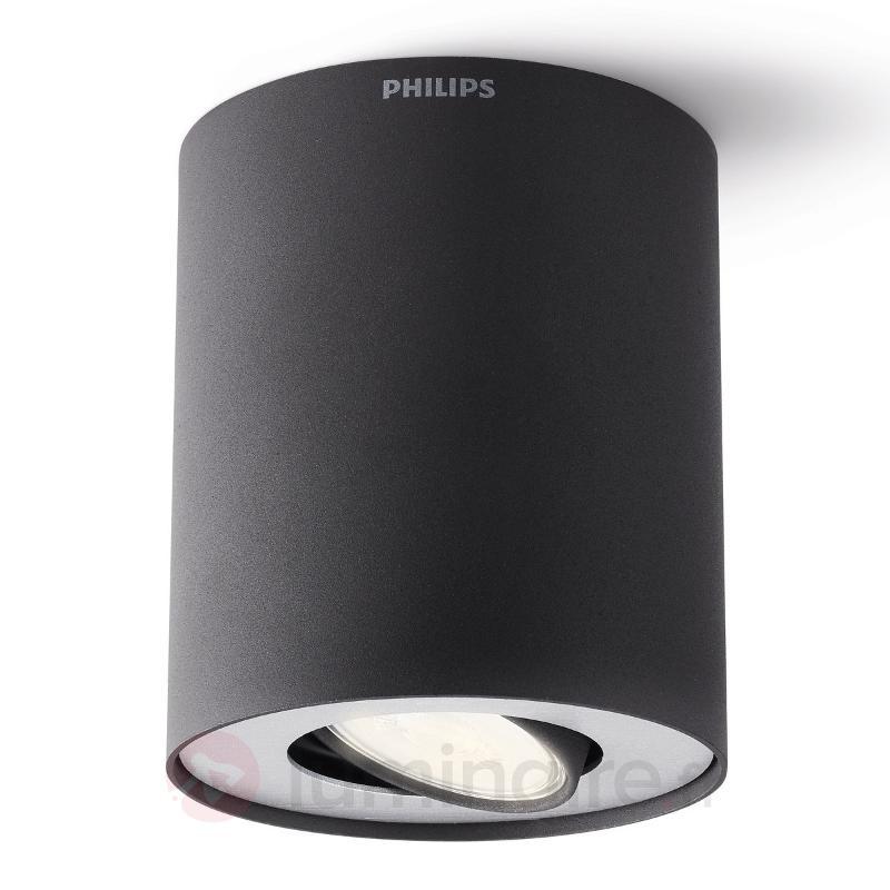Spot encastré LED cylindrique Pillar en noir - Spots et projecteurs LED