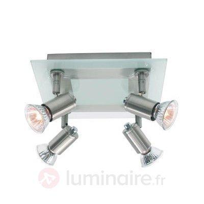 Plafonnier de goût Match, 4 ampoules - Spots et projecteurs halogènes