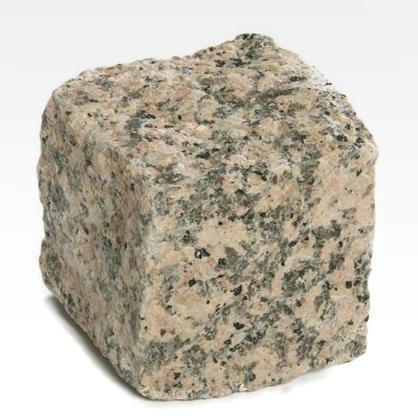 Pavés de Granit Rose - Cube de granit rose. Granit haute résistance