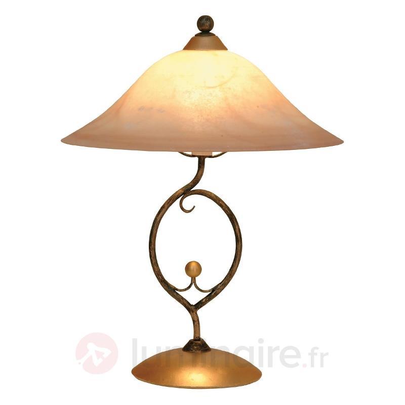 Lampe à poser PROVENCE CHALET romantique - Lampes à poser rustiques