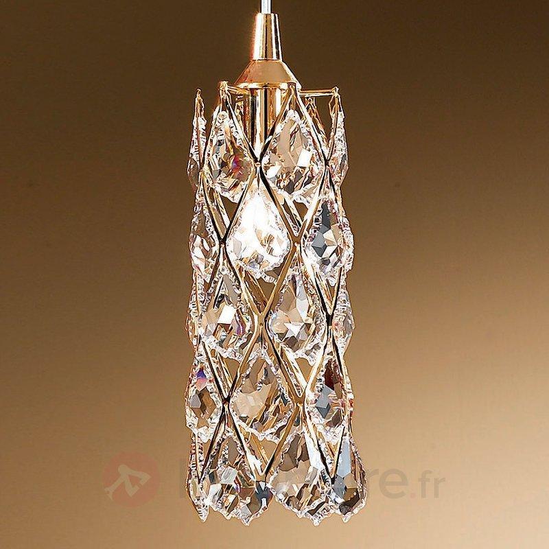 Suspension dorée CHARLENE à cristaux - Suspensions en cristal