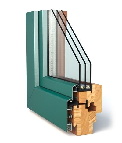 Wood-Alu (Alu-Cladding Windowos 68|78|92) - Alu-Wood 'TT' Windows