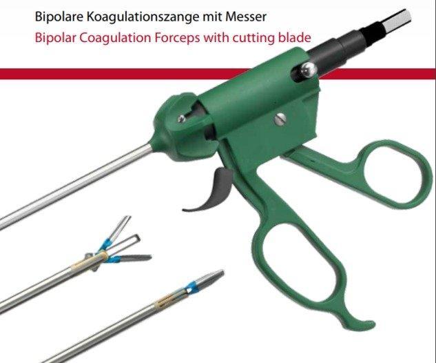 Bipolare Koagulationszange mit Messer - null