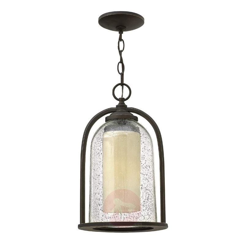 Double-shaded hanging lamp Quincy for outdoors - Outdoor Pendant Lighting