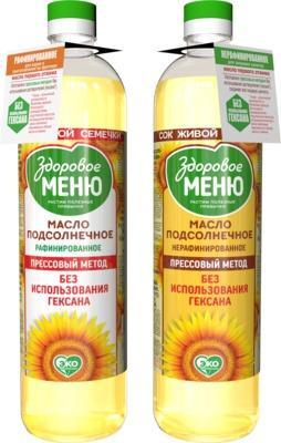 Sunflower oil  - Unrefined sunflower oil/refined sunflower oil