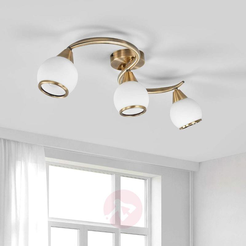 OLIVER Triple-lamp Ceiling Lamp, Antique Brass - Ceiling Lights