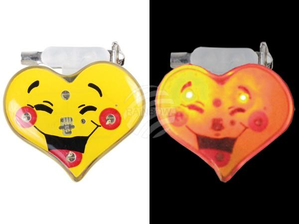 Blinki Blinker gelb Motiv: Lachendes Herz - null