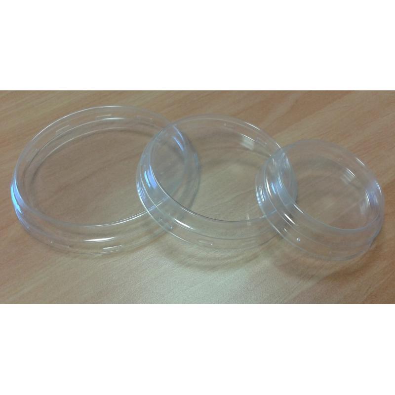 24 Cofias diámetro 100 mm.  - en plástico transparente para tarro WECK