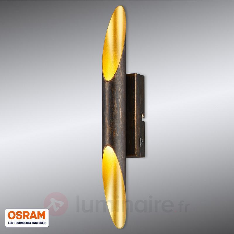Applique LED Bolero rouille, intérieur doré - Appliques LED