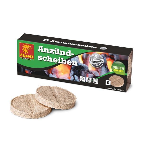 FLASH Anzünder Holz & Wachs 9 Scheiben -
