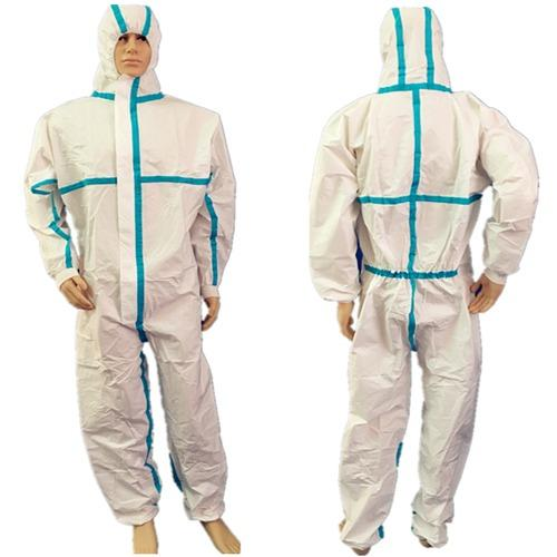 jednorázová kombinéza EN14126 s podlepenou EN 14126 typ 3/4/ - disposable EN14126 surgical medical coverall with taped en 14126 type 3/4/5/6
