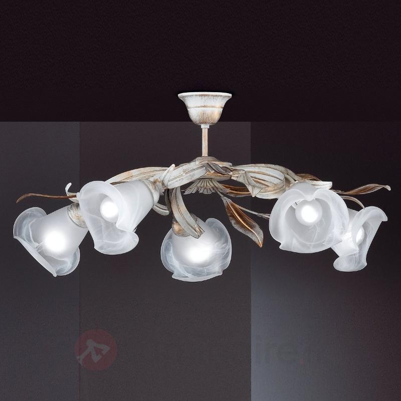 Élégant plafonnier Valenzia à cinq lampes - Plafonniers style florentin