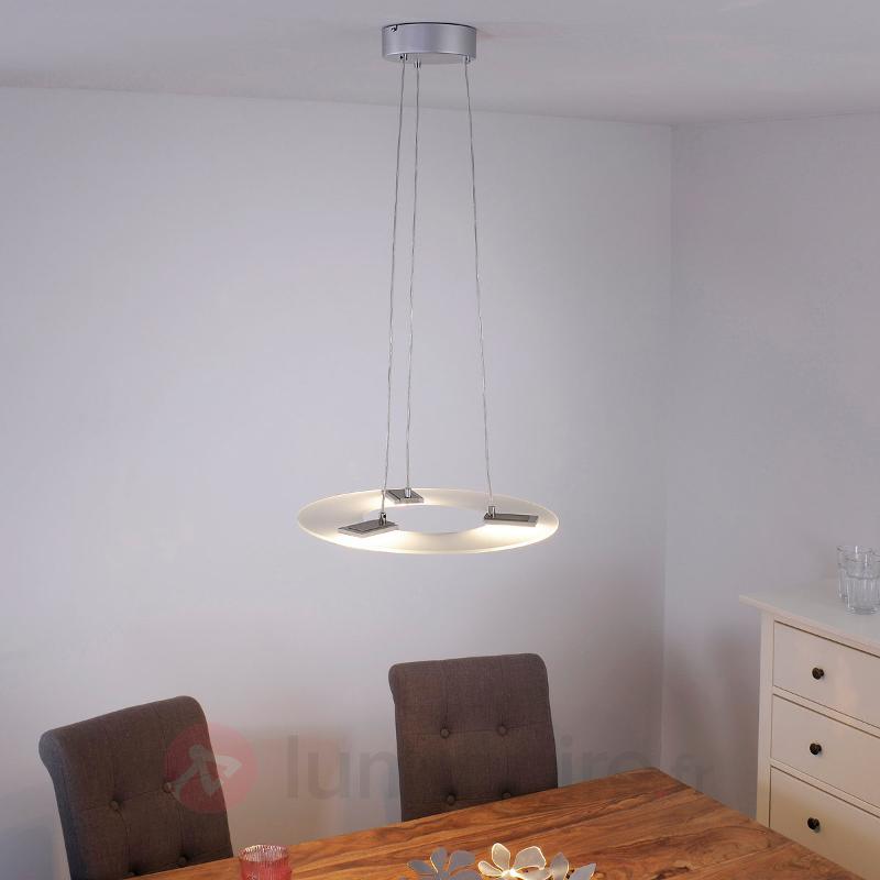 Suspension LED Sara dimmable, abat-jour en verre - Suspensions LED