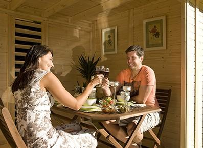 Abri de jardin en bois avec extension france abris france - Abri de jardin avec extension ...