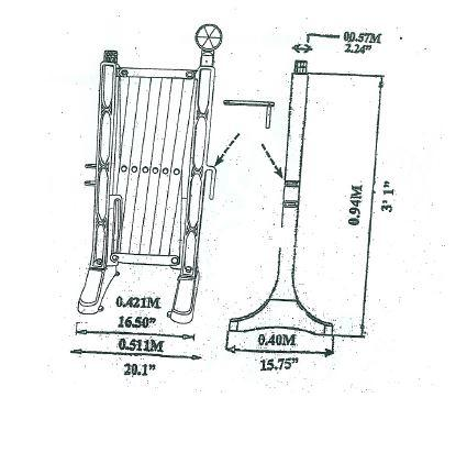 Scissor fence red/white extensible till 3,5 m - SISCHAHRPLA
