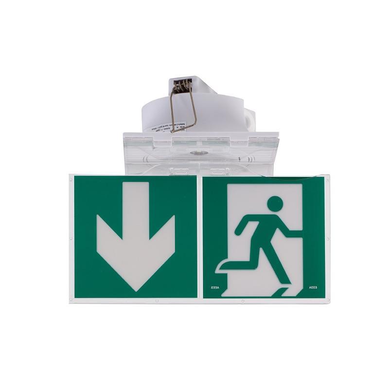 BAES DBR d'évacuation - Adressable SATI - A encastrer - Sécurité incendie