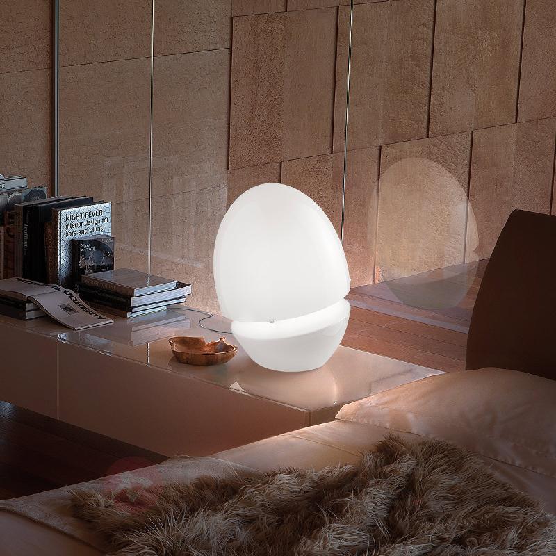 Lampe de table en verre ovale Jo - Lampes à poser designs