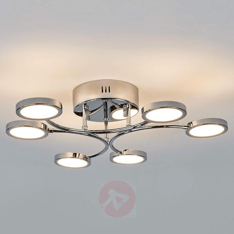 Chorme Betika LED ceiling lamp, 6-bulb - Ceiling Lights