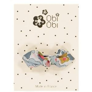 Barrette Cheveux Enfant Noeud Liberty Porcelaine - NOUVELLE COLLECTION
