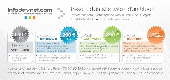 PACK WEB - Découvrez nos packs web à partir de 150 euros